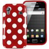 Samsung Galaxy Ace Polka Dots Case Rood