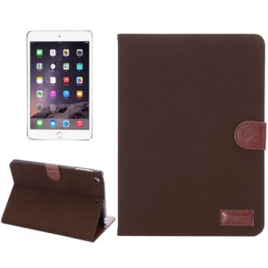 iPad Mini Suède Stand Cover Donker Bruin