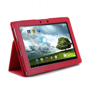 Asus TF 300 Lederen Stand Cover Roze
