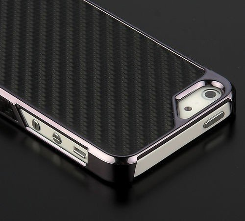 iPhone 5 Carbon Fiber Zwart Chrome