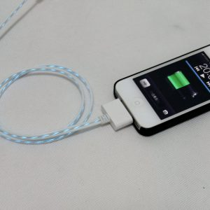 iphone 4 USB Kabel Wit met Led Verlichting