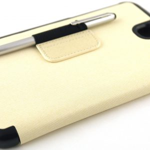 Samsung Galaxy Tab 3 7.0 Lederen Stand Cover Creme Wit (exclusief stylus pen).