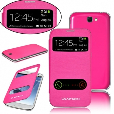Samsung Galaxy Note 2 S View Cover Roze