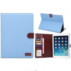 iPad Air Cover Jeans Style Licht Blauw.