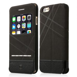 iPhone 6 Baseus Flip Case Zwart.