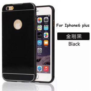 iPhone 6 Plus Acrylic Back Cover met Aluminium Bumper Zwart