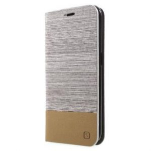 Samsung Galaxy S6 Edge Wallet Book Case Grijs