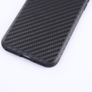 iPhone 7 Plus Hoesje Carbon Fiber Textuur Zwart