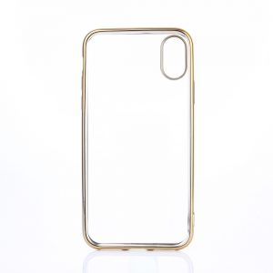 iPhone X Transparant Bumper Hoesje Gold