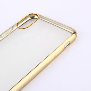 iPhone X Transparant Bumper Hoesje Gold-15094