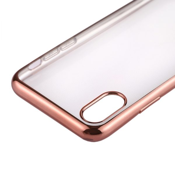 iPhone X Transparant Bumper Hoesje Rose Gold