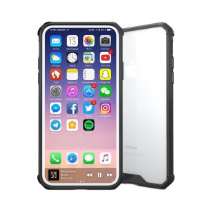 iPhone X Transparant Shock Proof Hoesje Zwart