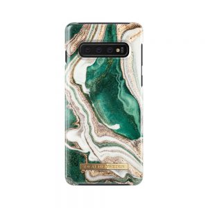 IDEAL FASHION CASE GOLDEN JADE MARBLE GALAXY S10